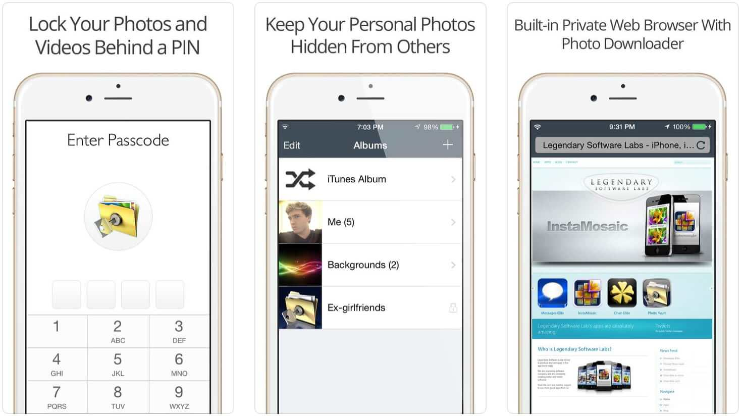 hide pictures in iPhone Private Photo App