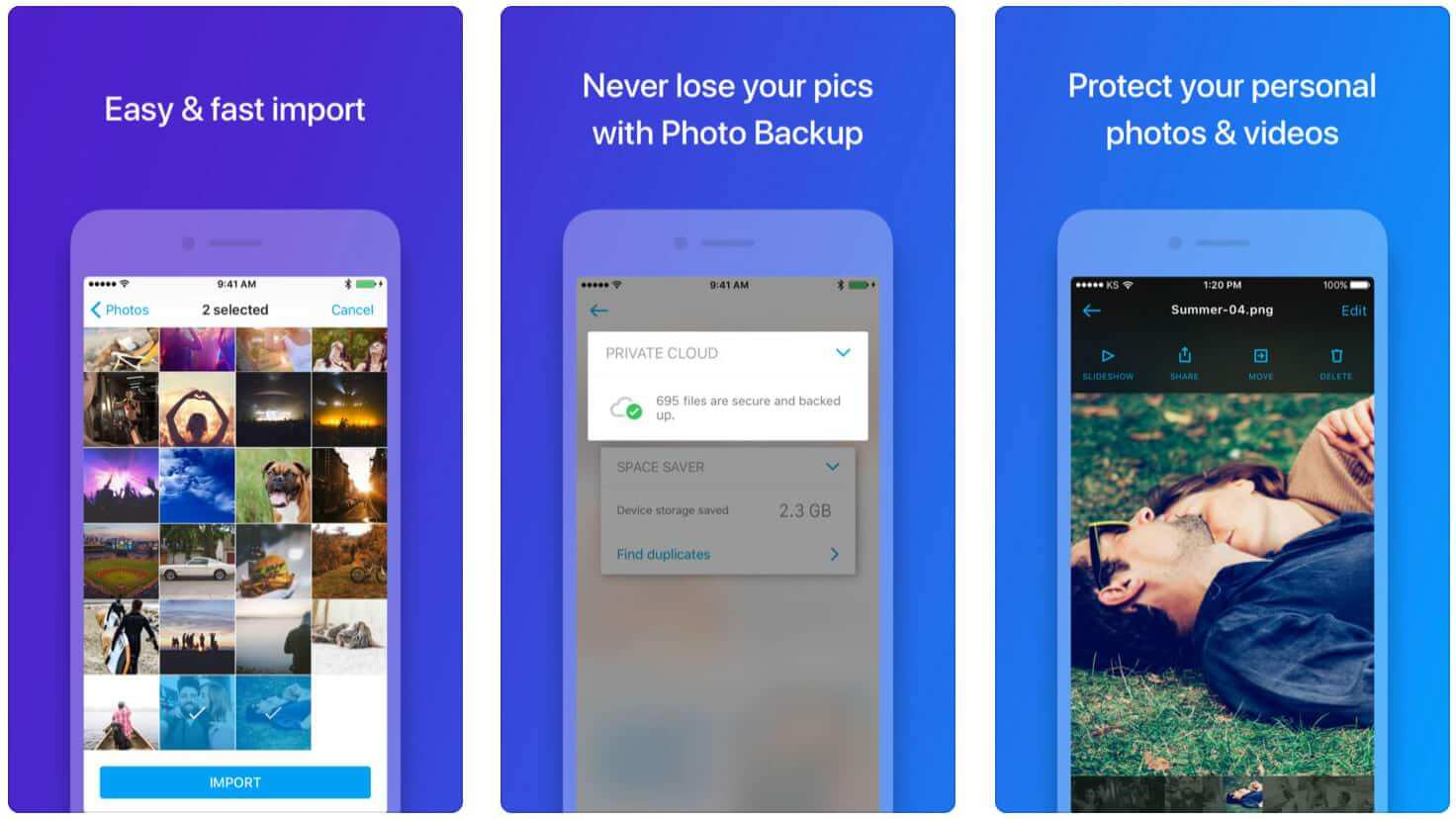hide pictures in iPhone Photo Vault Keepsafe